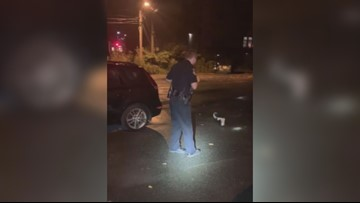 Maine Police Officer saves a Waterville skunk trapped in trash