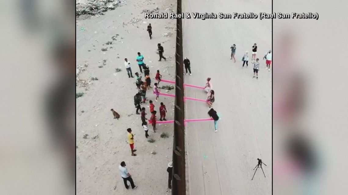 Architect puts an installation on the US-Mexico border wall which allows people on both sides to play together.