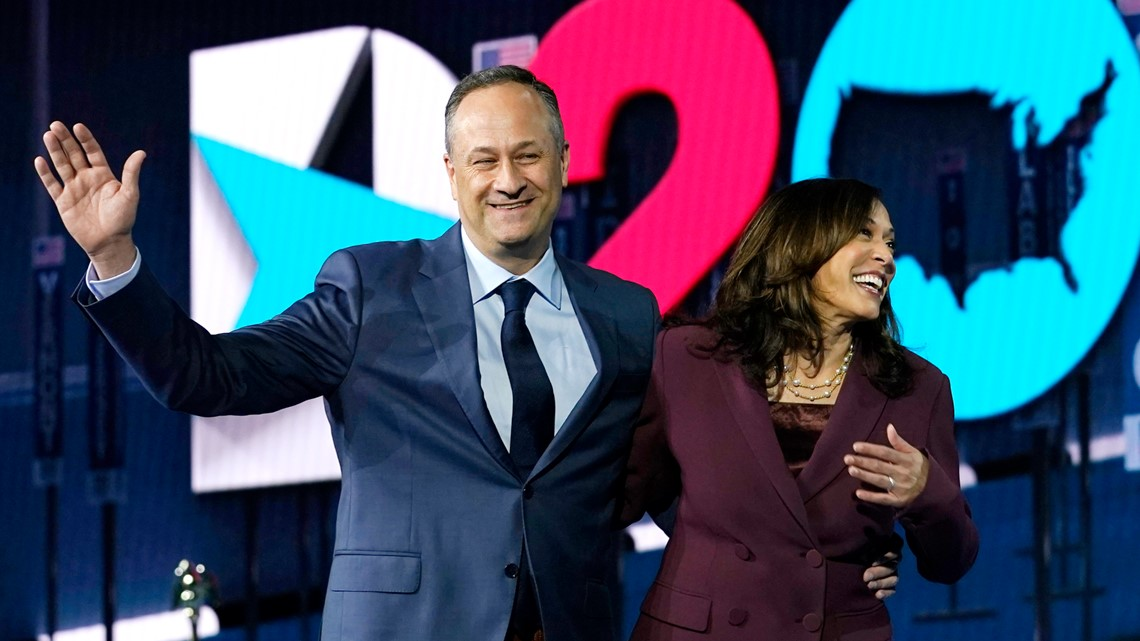 Kamala Harris' husband Doug Emhoff to travel to Maine
