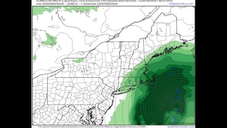 Potential precip and wind Saturday morning