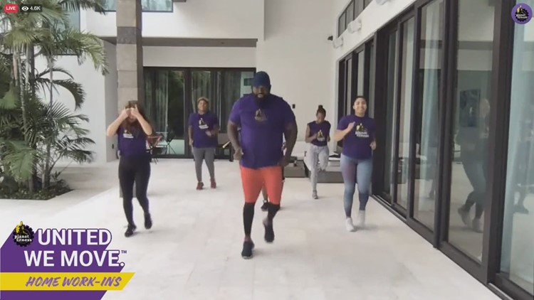 Big Papi hosts Planet Fitness virtual 'work-in'