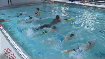 Tacko Fall learns to swim
