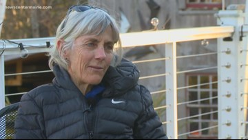 Maine legend Joan Benoit Samuelson throws first pitch for Sea Dogs
