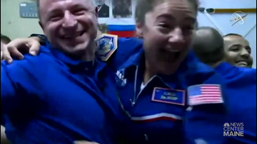 Watch the moment Jessica Meir floated aboard the International Space Station