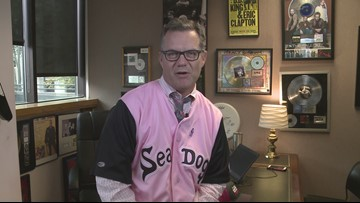 Buddy to Buddy '  Herb Ivy from WBLM wears pink