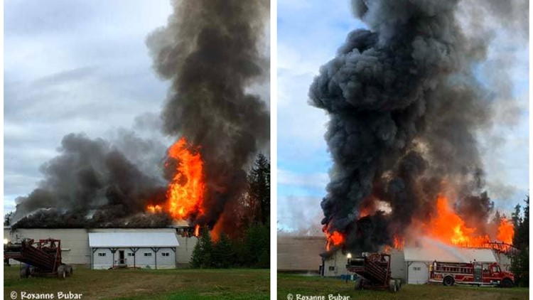 Fort Fairfield potato house a total loss after morning fire