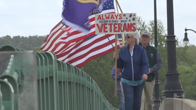 """""""We cannot let this day go by without honoring these folks."""" Mainers walk their own parade to remember those who made the ultimate sacrifice"""