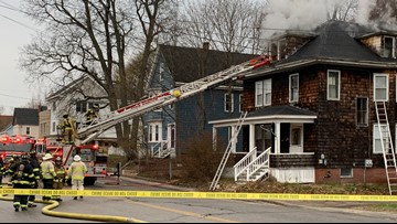 Everyone out safe as fire closes street in Westbrook