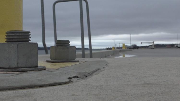 The Breakwater where the cruise ship wpuld dock