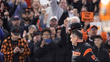 Big cheers for Bochy and Yaz Jr. make Fenway feel like foreign territory