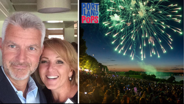 Cindy and Lee host the Portland Pops July 4 celebration