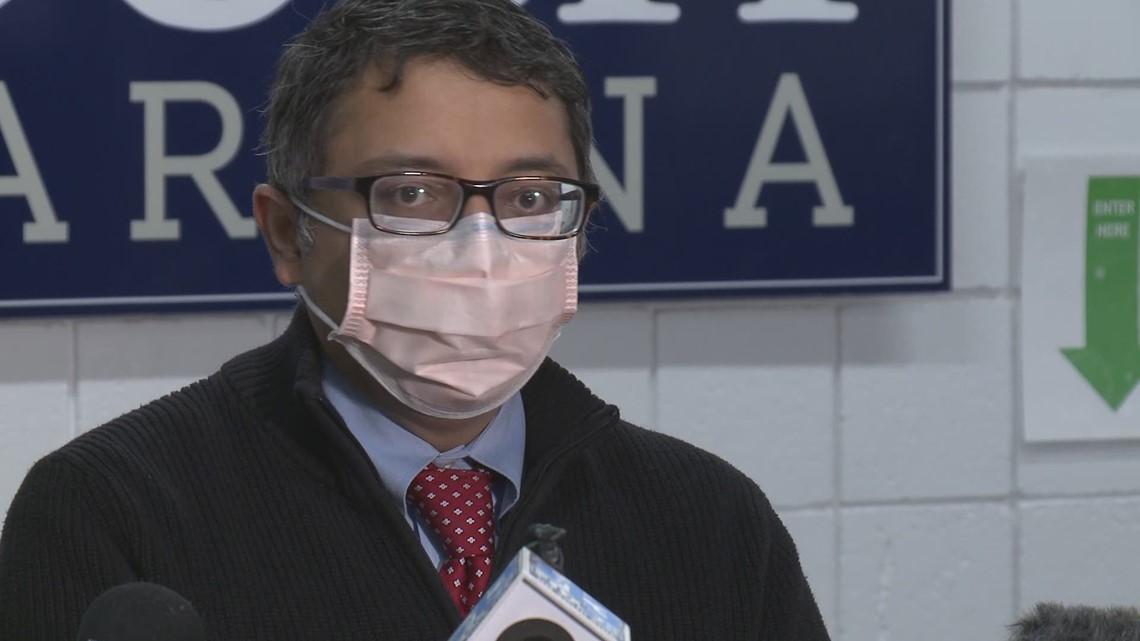 Maine CDC Director Dr Nirav Shah speaks after COVID vaccine clinic visit PT1