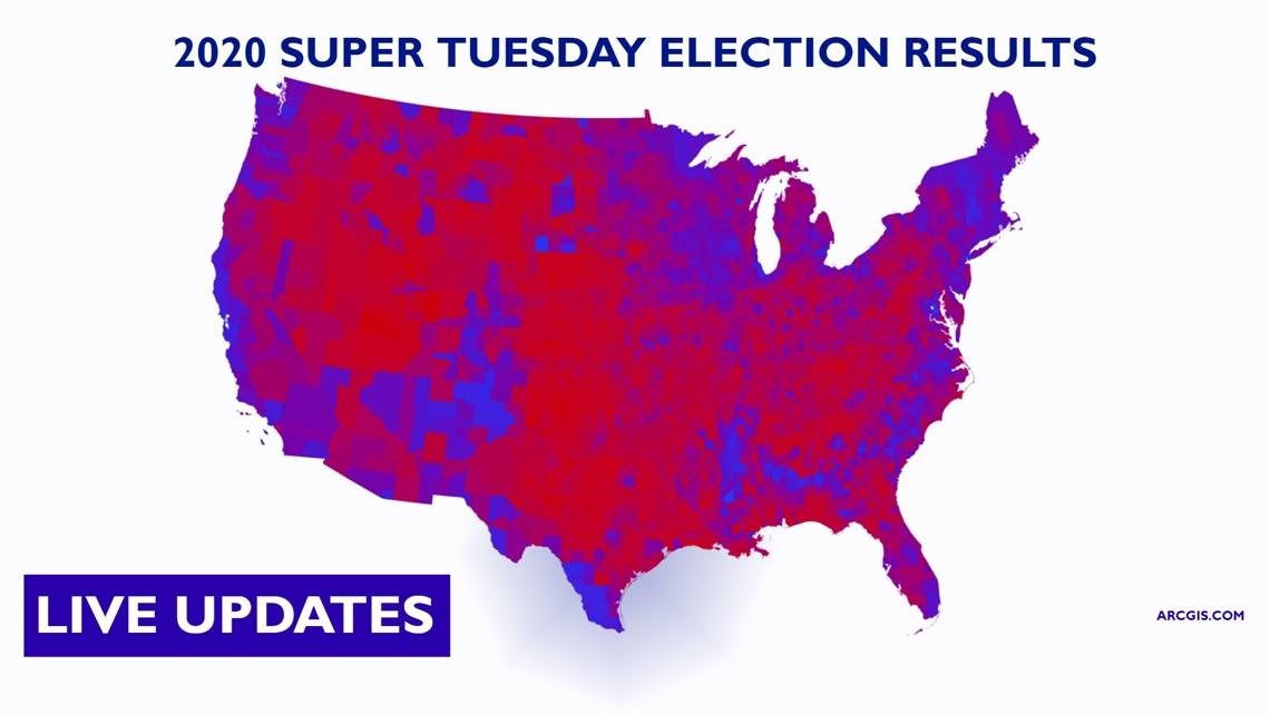 Image of: Nbc News Live Super Tuesday Results Map Newscentermaine Com