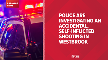 Person suffers self-inflicted, accidental gunshot wound in Westbrook