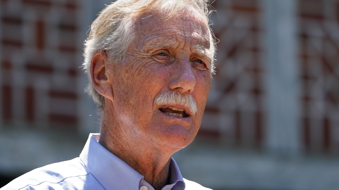 Sen. Angus King says negotiations on the infrastructure bill are nearly finished