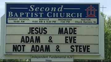 Anti-gay church sign in Palermo receives backlash