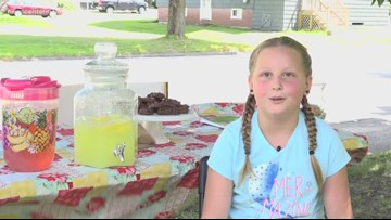 Westbrook girl sells lemonade to raise money for diabetes cure