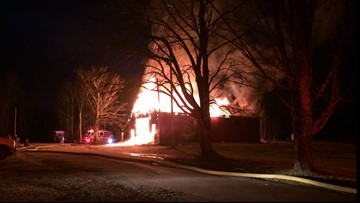Local business's maintenance garage leveled by fire