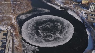 Maine 'ice disk' has the whole world spinning