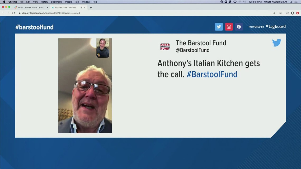 Anthony's Italian Kitchen is a recipient of The Barstool Fund