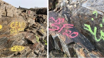 Giant's Stairs in Harpswell vandalized with graffiti
