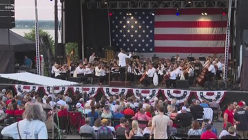 Families celebrate Independence Day on the Eastern Promenade