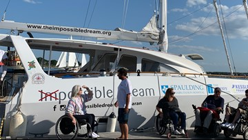 The 'Impossible Dream' sets sail in Maine, wheelchairs welcomed