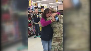 Soldier surprises mom at work in Lincoln