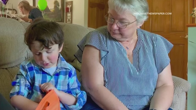 Boothbay Harbor boy with cancer meets his longtime pen pal from Delaware