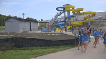 Waterville opens new water slides before season's close