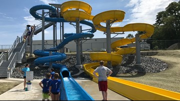 New water slides open in Waterville