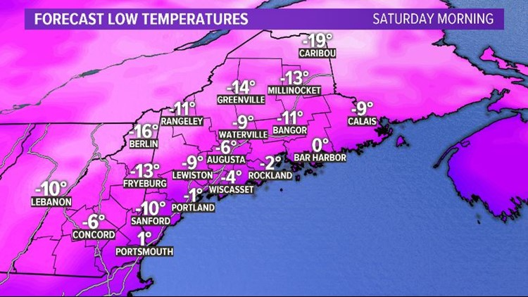 Widespread Cold Saturday Morning
