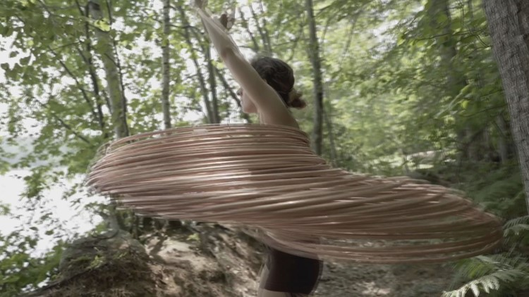 Not the playground hula hooping: Maine dance instructor takes hooping to new heights