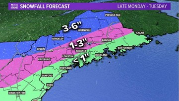Arctic front brings snow, sleet, bitter cold to Maine