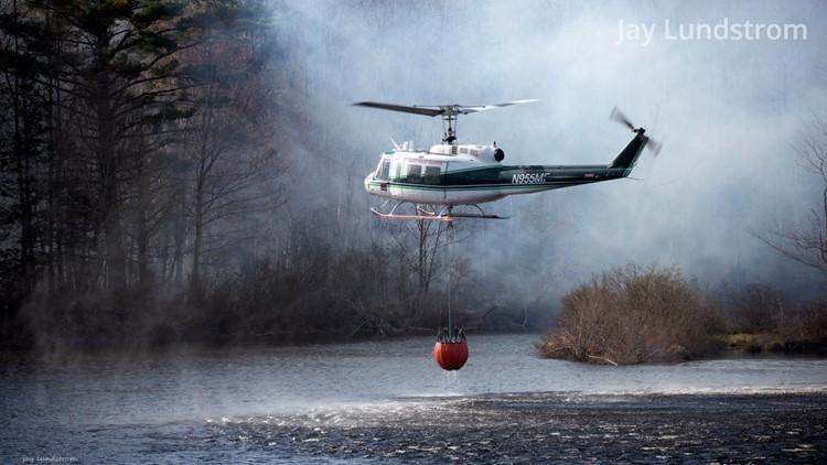 Maine wildfire