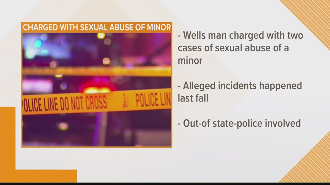 Wells man charged with sexual abuse of a minor