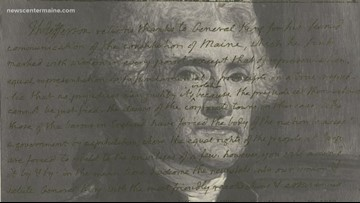 Did Thomas Jefferson help write Maine's constitution?