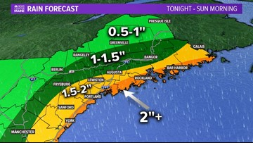 "Heavy rain, gusty wind, Saturday, up to 3"" of rain possible"