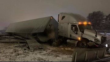 Tractor-trailer truck crashes on Maine Turnpike in South Portland