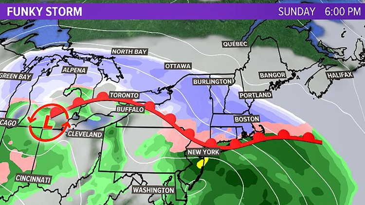 Noreaster Monday possible