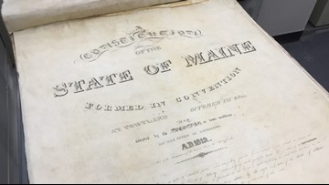 Back to the source: up close with Maine's Constitution