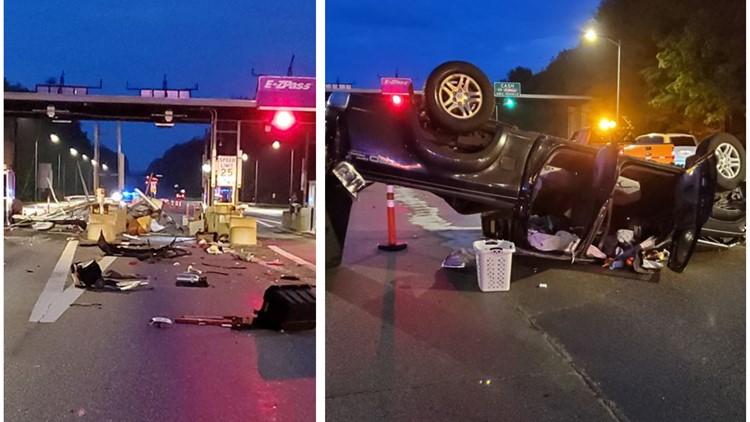 Man uninjured after falling asleep and crashing into NH toll plaza