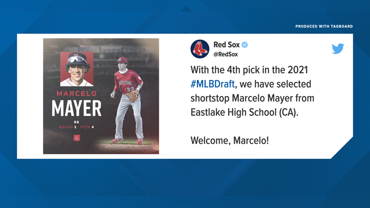 Red Sox select 'superstar' shortstop from California