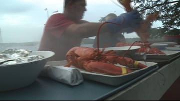 To Cabbage Island Clambake aboard the Schooner Heritage