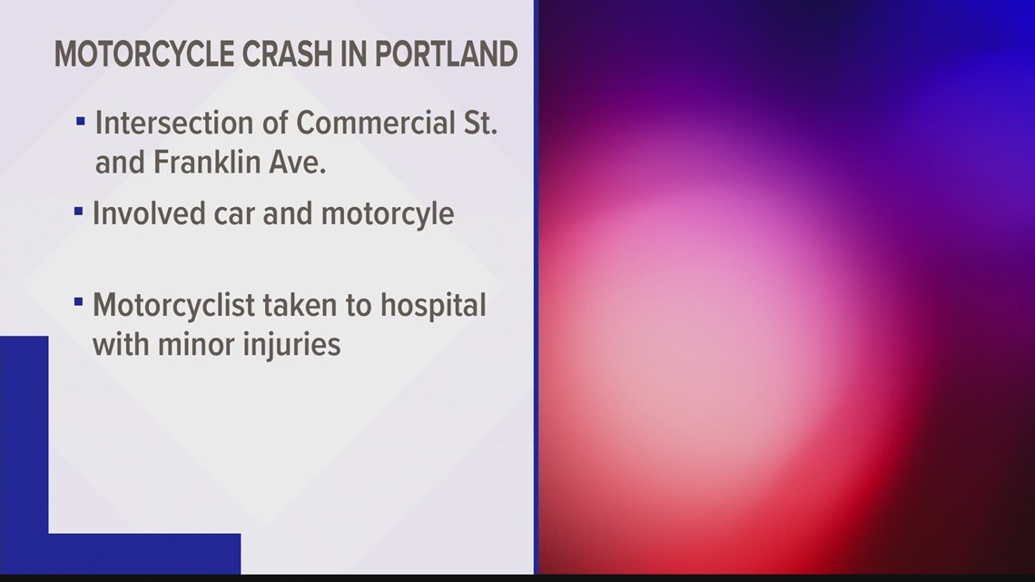 One injured in Portland motorcycle crash