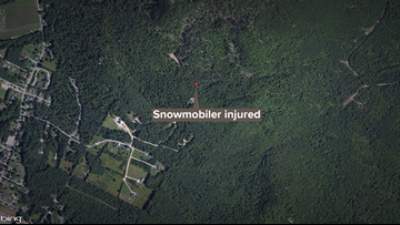 Snowmobiler rescued after 300 foot fall