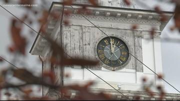 Biddeford City Hall clock tower mechanics restored