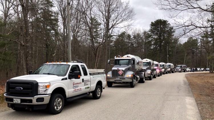 Champagne's Energy propane truck birthday parade