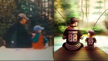 1,000 miles apart, Bruins keep ex-Maine father, son close
