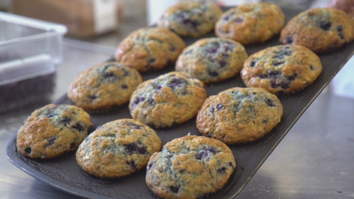 Celebrate National Blueberry Month with homemade muffins